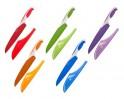 BANQUET Nůž kuchařský s nepřilnavým povrchem SYMBIO NEW 33 cm, mix barev, s pouzdrem na čepel