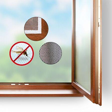 Okenní síť proti hmyzu 130x150cm, bílá